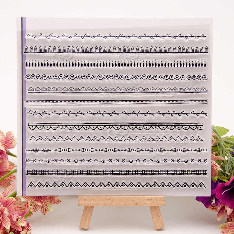 Line Transparent Clear Silicone Stamp/seal for DIY Scrapbooking/ Album Decorative Clear Stamp Sheets A599