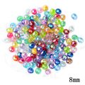 8mm Transparent Color Cut Faceted Water Beads 100pcs/lot Wholesale Plastic Ball Decoration Hole Bead For Kids DIY Jewelry Making