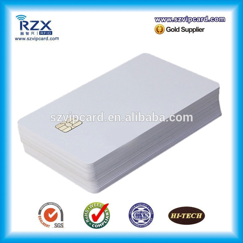 High quality 1000PCS wholesale white PVC blank smart card with AT24C02 chip
