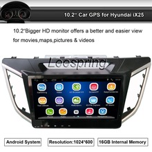 Car GPS Navigation Aadio Video Player for Hyundai ix25 10.2 inch HD capacitive touch screen Built-in wifi bluetooth Am/Fm