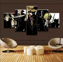 Canvas Painting Poster Wall Art Photo Framework 5 Pieces One Piece Characters Modular Pictures For Living Kids Room Decorative