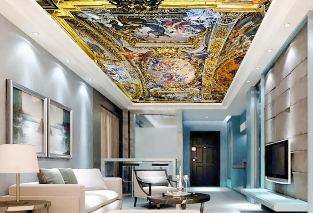 Luxury European style 3D Ceiling Wallpaper Jesus Murals ...