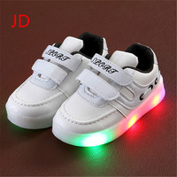 New Light Children's Shoes Light Children Shoes Stars Boys and Girls LED Lights Anti-skid Students Casual Shoes