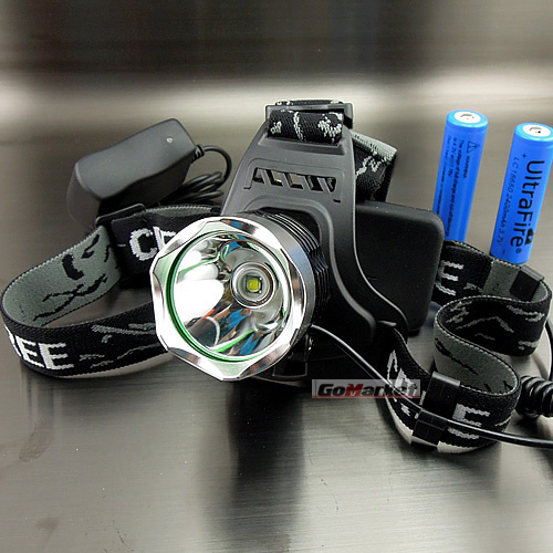 1600Lm CREE XM-L XML T6 LED Headlamp Rechargeable Headlight 18650 SET A1 Charger