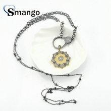 цены на Pop Charms,Fashion Jewelry ,The Flower Shape Cubic Zirconia Pendant Necklace, Necklace Women, 3Pieces в интернет-магазинах