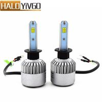 1Pair H1 Car LED Headlight Bulb 6500K CSP 72W 8000LM All In One Conversion Kit LED