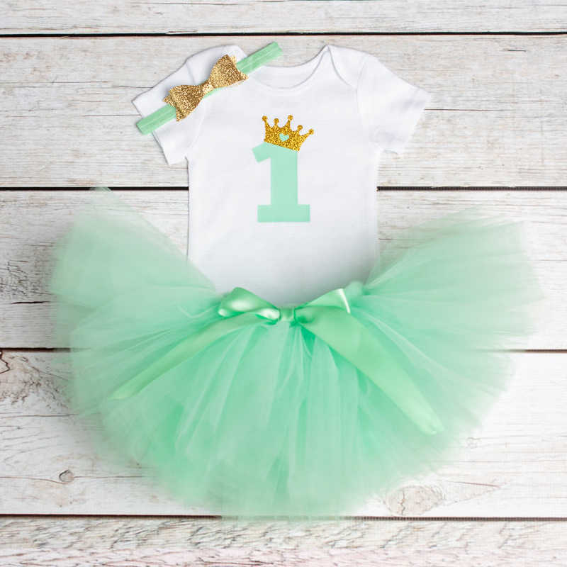 e2db07307 ... Newborn 2019 Flower Party Clothes Set Baby Girl One Years First  Birthday Tutu Outfits for Girls ...