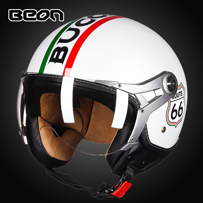 Beon 4 seasons vintage 3 4 FACE Motorcycle helmet capacete motorcycles motorbike helmet DOT ECE half