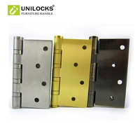 UNILOCKS 1 çift antika Branze/paslanmaz çelik/katı pirinç rulman kapı menteşesi (4 inç * 4 inç * 3.0mm)