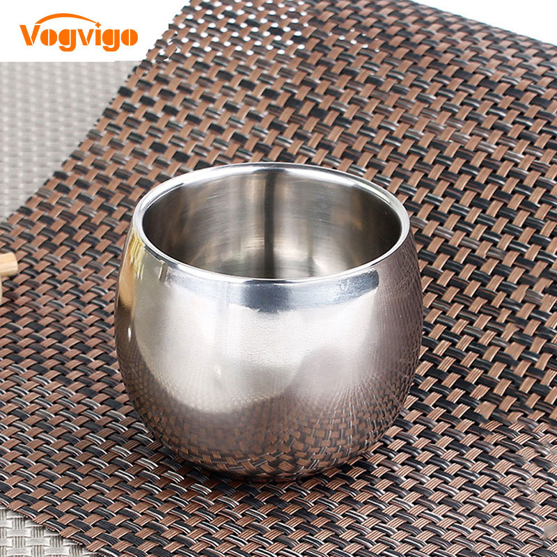 VOGVIOG Hot Sale 3 Size Stainless Steel Double-layer Anti-hot Hollow Coffee Cup Mug Double Layer Scald-proof Drinkware