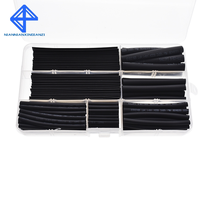 Heat shrinkable tube 2mm 3mm 4mm 5mm 6mm 8mm 10mm Tubing Sleeving Wrap Wire Cable Kit