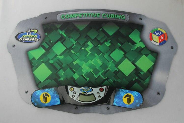 3 Sets/Lot SS Professionnel Minuterie Horloge Machine pour Vitesse Puzzle Cube Accessoire pour Concurrence Jeu Vol Pile Pack Tapis - 4