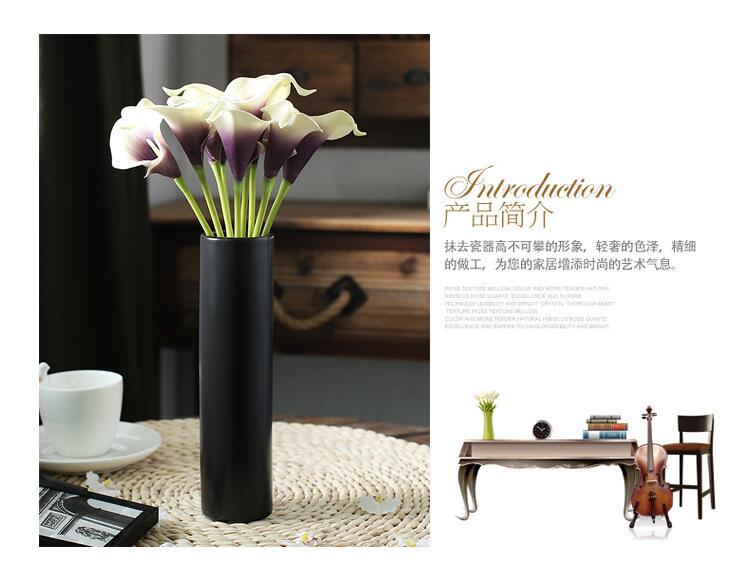 Калла Лилия тюльпан моделирование поддержка Творческий нордический контракт искусство ресторан настольные вазы, керамика черный Меса