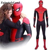 far from home Spider Man Costume Superhero Halloween Costumes Cosplay Spiderman Jumpsuit Spider man outfit Custom made