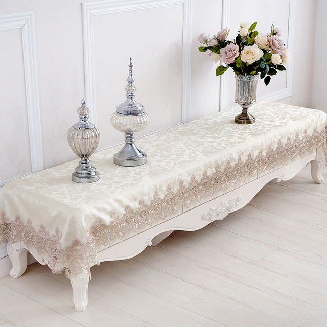 brod dentelle nappe chemin de table europ enne tv cabinet couverts rectangulaire table tissu. Black Bedroom Furniture Sets. Home Design Ideas