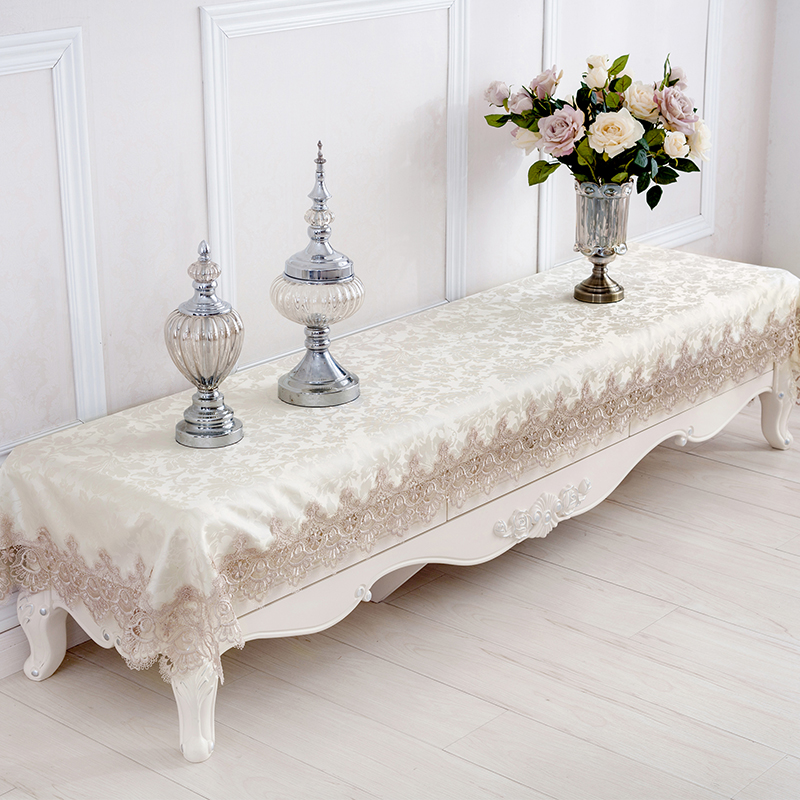 Charmant Online Shop Embroidered Lace Tablecloth Table Runner European TV Cabinet  Covered Rectangular Table Cloth Coffee Table Covered Towel | Aliexpress  Mobile