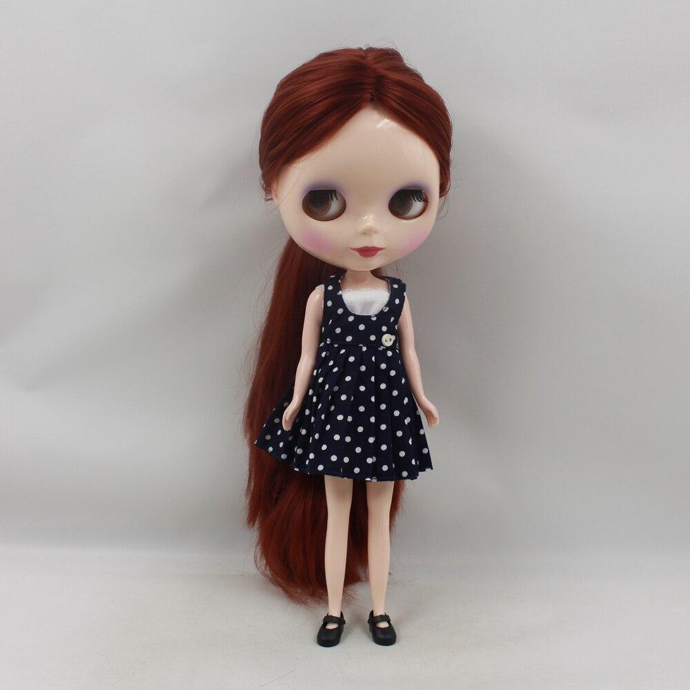 Darmowa wysyłka blyth doll icy licca 300BL9388 bez grzywki/frędzle brązowy głębokie rude włosy 1/6 30cm normalne ciało prezent zabawki w Lalki od Zabawki i hobby na  Grupa 2