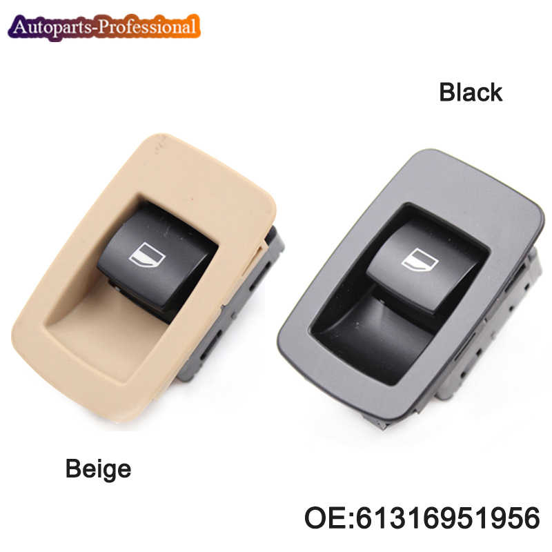 1 PCS New Black / Beige Window Lifter Raiser Switch Button For BMW E60 520I 523I 525I 530I 61316951956 61319113931 61316940313