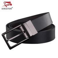 DINISITON Fashion Designer Pin Buckle Genuine Leather Men Belts Luxury For Men Brand Leisure Business Belt