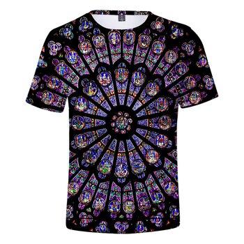 3D Print Notre Dame de Paris T shirt Summer New Leisure Short sleeve Men/Women tshirt Hot Fashion Boy/Girl personality Clothes