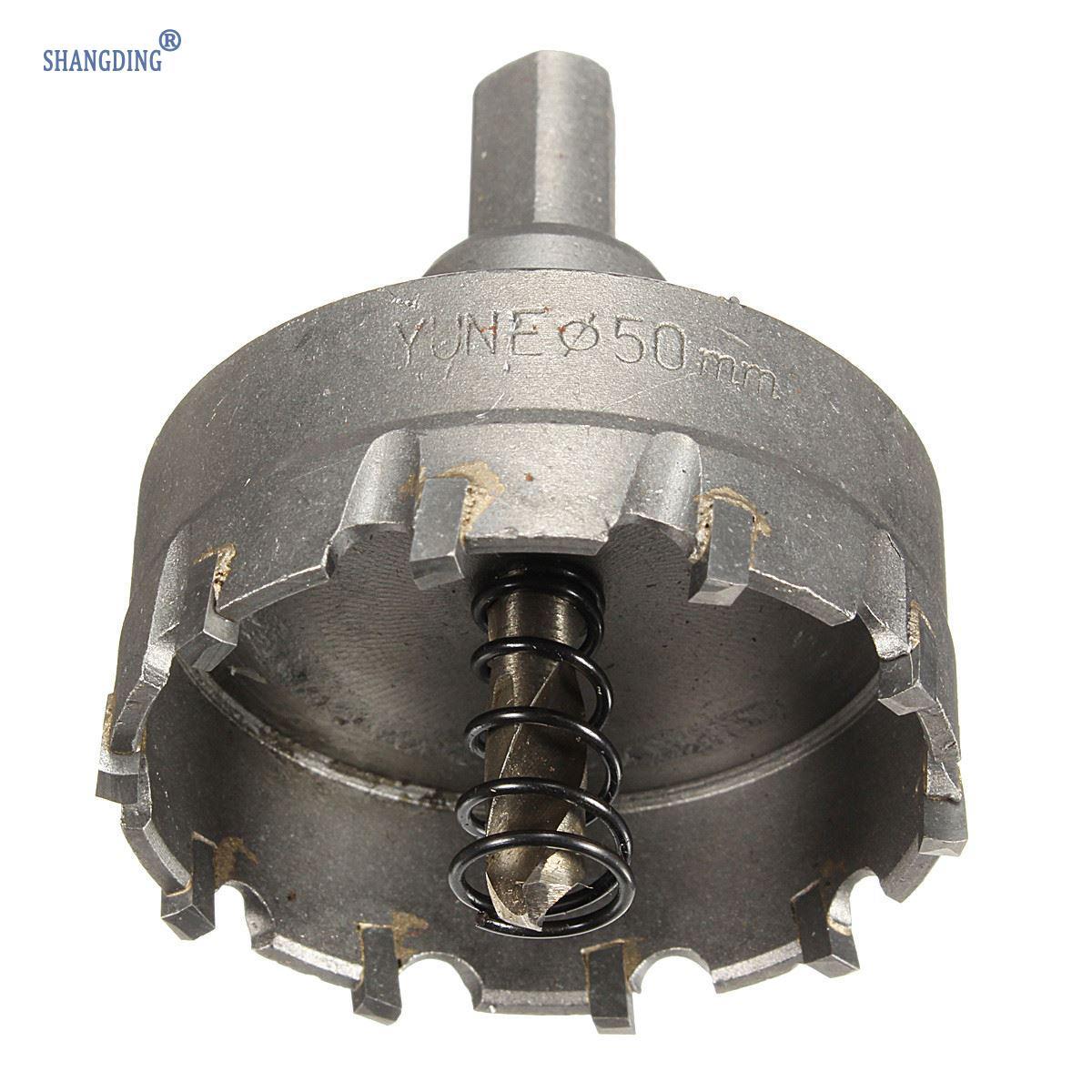 1 sada 48 mm karbidový hrot TCT vrták do kovu s vrtákem na kovovou - Vrták - Fotografie 3