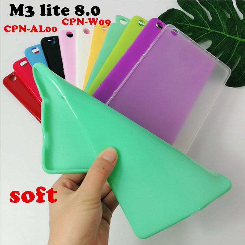 Case Cover for Huawei MediaPad M3 Lite 8.0 CPN-W09 CPN-AL00 tablet case soft Silicone TPU Back Cover case protective shell protective tpu back case for samsung i8260 i8262 blue