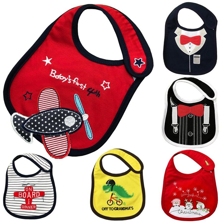 Baby Bibs Cute Cartoon Pattern Toddler Baby Waterproof Saliva Towel Cotton Fit 0-3 Years Old Infant Burp Cloths Feeding DS19
