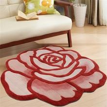 90 см диаметр 3D Подсолнух розы ковры для гостиной мягкий детский игровой коврик пол коврик для спальни