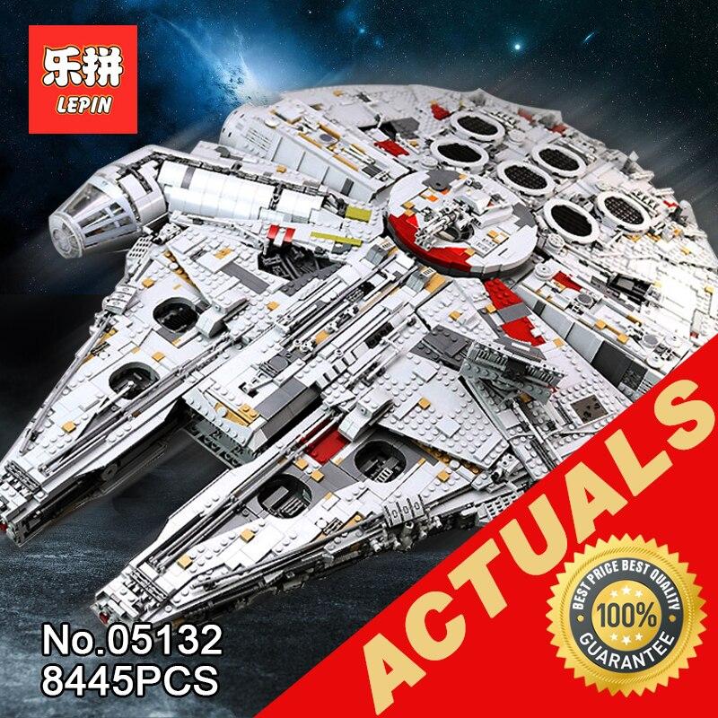 Лепин 05132 Звездный Разрушитель Сокол Тысячелетия Совместимость с LegoINGlys 75192 кирпичи модель здания Конструкторы войны