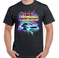 Time Machine Mens Funny Back To The Future Inspired T Shirt DeLorean Car DMC 2019 fashion t shirt mens tee shirts 2019 hot tees