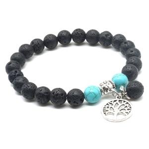 Image 5 - Lover Tree of Life 8mm Lava Stone Kallaite Healing Balance Beads Reiki Buddha Prayer Essential Oil Diffuser Bracelet Jewelry