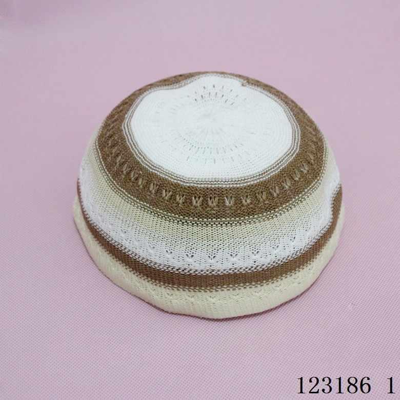หมวกถักคุณภาพสูงอิสลามKufi TopiมุสลิมหมวกตุรกีMade Namazอียิปต์Mensสวมใส่