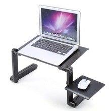Portable pliable en aluminium ordinateur portable ordinateur portable Table de bureau plateau de souris 480x260mm outils pour PC 360 degrés rotation