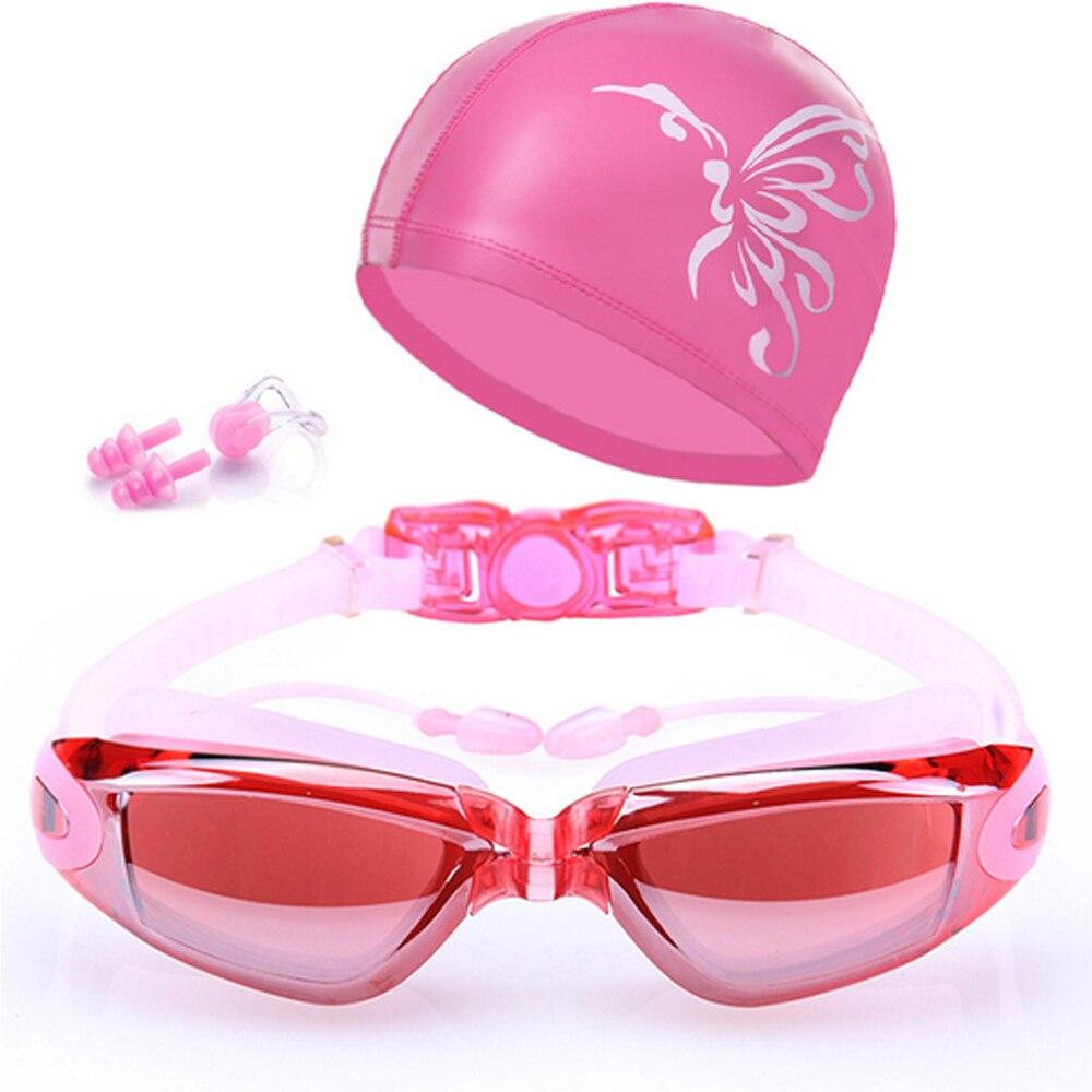 Waterproof Suit HD Anti-Fog 100% UV Adjustable Prescription Swimming Goggles Unisex 8