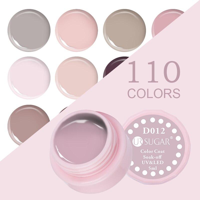UR SUGAR 5мл Macaron Soak Off UV Гель 110 Pure Colors Effect - Маникюр - фото 4