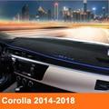 Чехол для приборной панели автомобиля, Солнцезащитный коврик, коврик для приборной панели, ковер LHD для Toyota Corolla E140/E150 2007-2013 2014 2015 2016 2017 2018