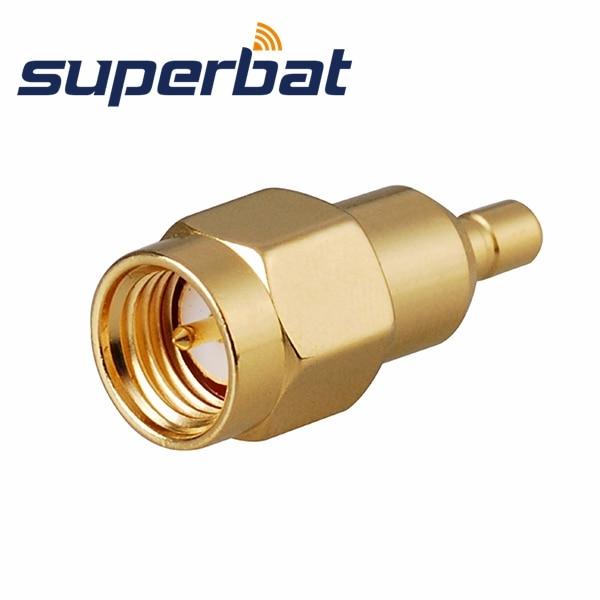 Superbat 2pcs RF Adapter SMA-SSMB SMA Plug Male To SSMB Female Jack ST RF Wifi Connector