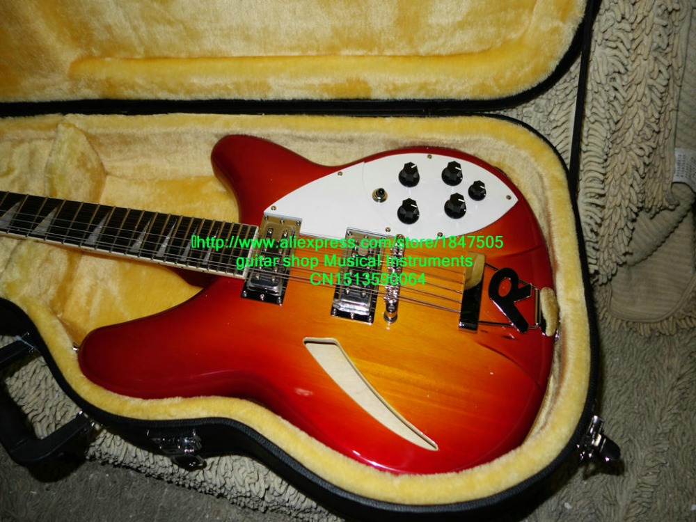 High Quality 12 Strings 325 330 Electric Guitar Cherry burst Best Musical instruments guitar
