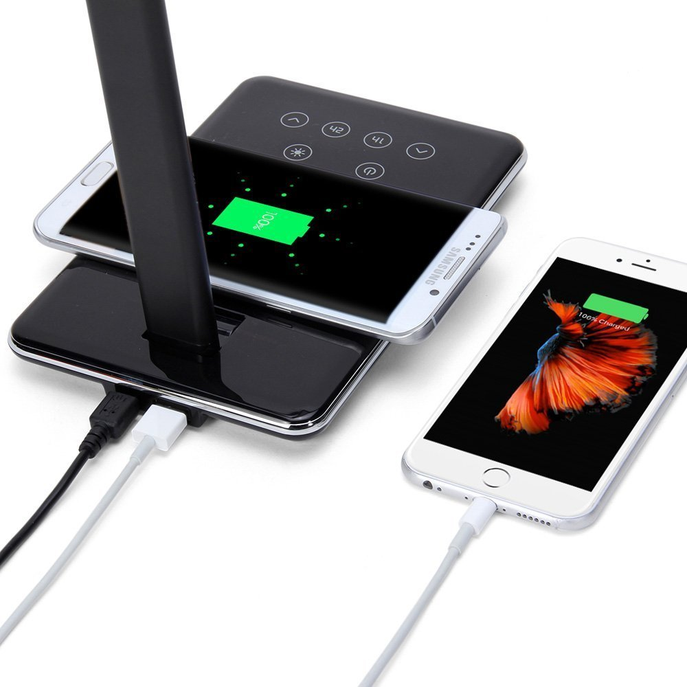 A.S Multifunction Unique Table LED Lamp + Qi Wireless Charging Pad Charger  For IPhone 8 X Samsung Galaxy S8 S7 Edge Note 5 In Wireless Chargers From  ...