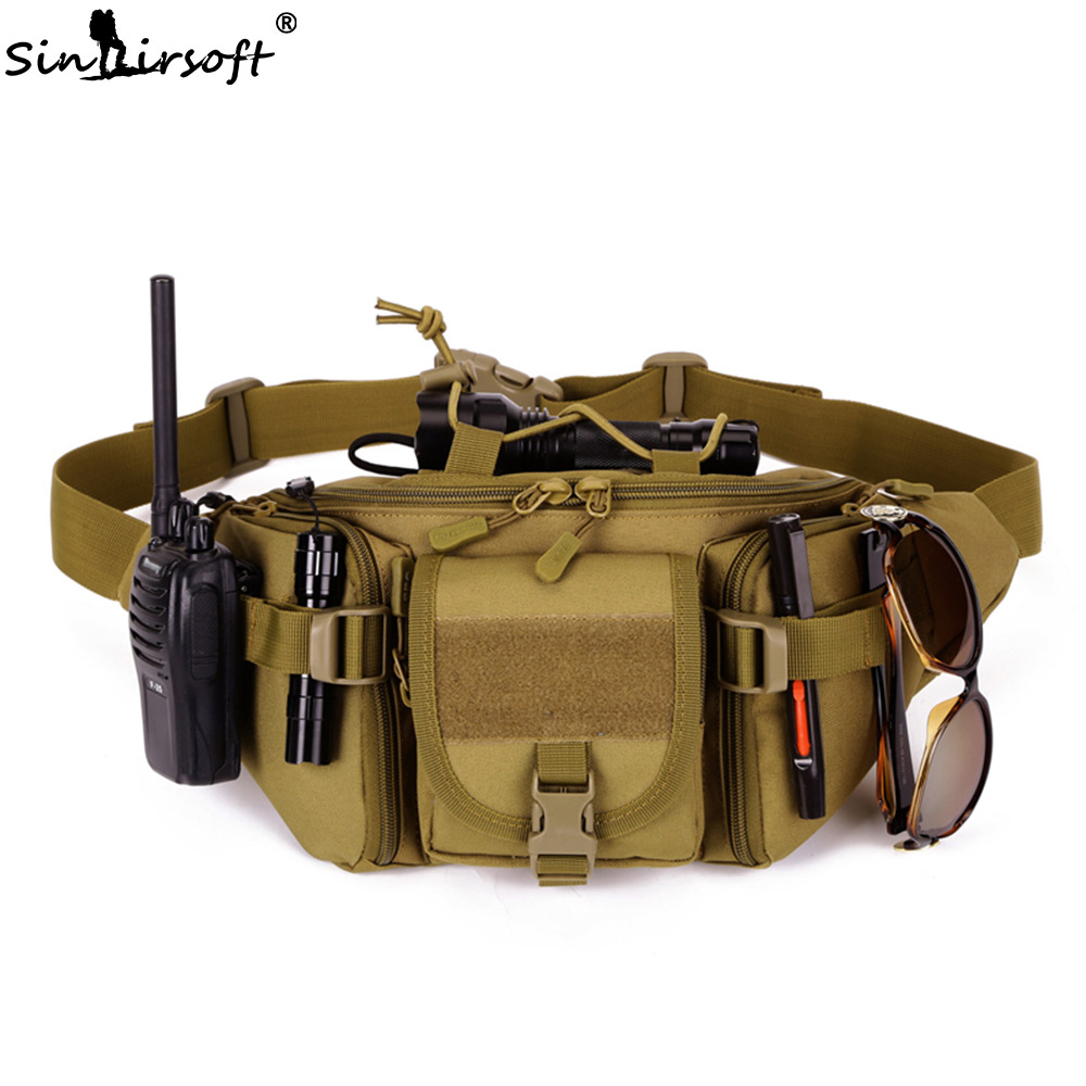 SINAIRSOFT Tactical Waist Bag Waterproof Fanny Pack Hiking Fishing Sports Hunting Bags Camping Sport Molle Army Bag Military