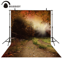 Allenjoy Photography Backdrops Autumn Trail Tree Fall Funds For Photography Studio Photo Background Photography Backdrop Vinyl
