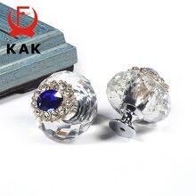 Drawer Knobs Furniture Hardware Cabinet-Handles Crystal Dresser Pulls KAK Colorful Fashion