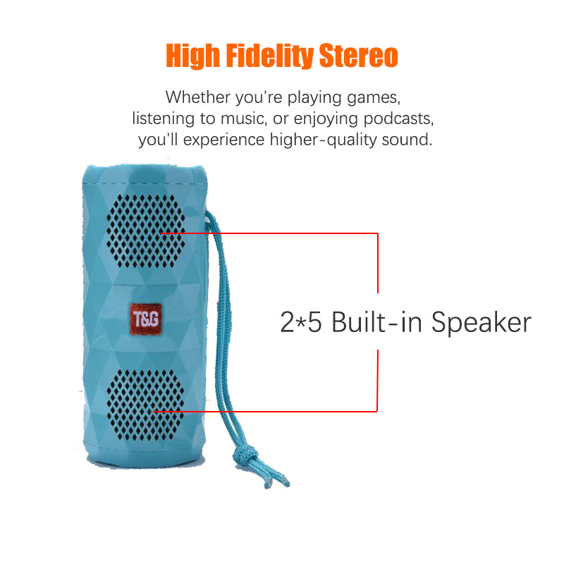 Portable Led Mini Wireless Bluetooth Speaker Stereo Speakerphone Radio Music Subwoofer Column Speakers For Computer With Tf in Portable Speakers from Consumer Electronics