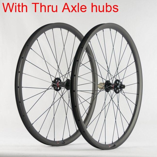 Nouveau 26/27. 5/29er VTT mat UD plein frein à disque en fibre de carbone à travers essieu roues carbone vélo pneu jante vtt livraison gratuite