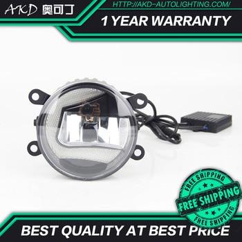 AKD Car LED Fog Lamp for Infiniti EX FX G JX M Q70 foglamp Shape C LED DRL light bar Energy saving Cob Low Beam Daytime Assembly
