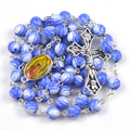 Fashion our lady of Guadalupe acrylic bead religious rosary necklace 12 colors