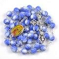 Moda grano de acrílico del collar del rosario religioso de nuestra señora de Guadalupe 12 colores