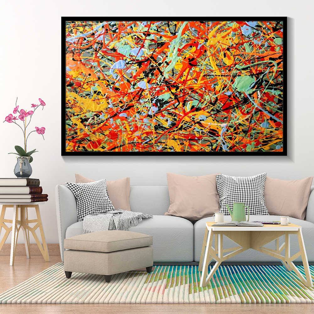 Jackson Pollock Abstract Oil Painting Wall Art Canvas Painting Color Posters And Prints Modern Art Home Decoration Wall Pictures