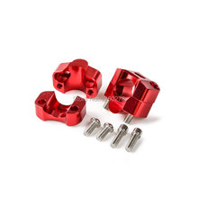 """New Motorcycle 1-1/8"""" Red Bar Mounts Riser Adapter For Honda CR/CRF/XR 80 100 125 250 450 500 650"""