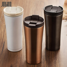 JOUDOO 500ml High Quality Vacuum Flasks Double Wall Stainless Steel Car Thermos Cup Brief Travel Coffee Tea Milk Water Bottle 35